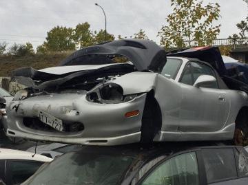 Scrapped MX5 car