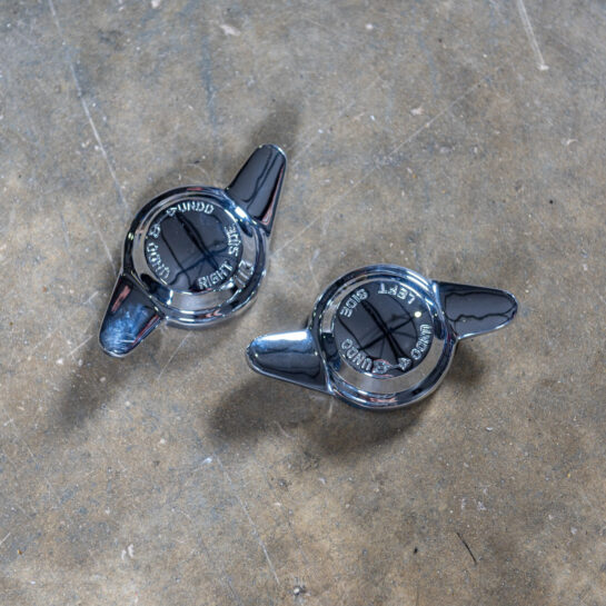 Chromed two eared spinner